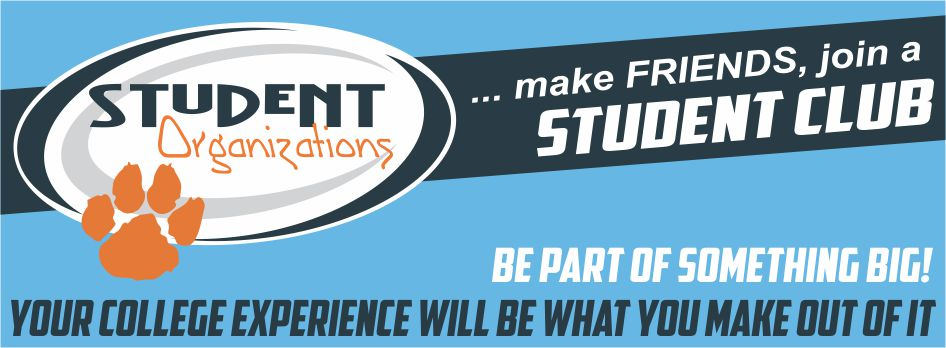 make friends, join a student club - Student Organizations Banner