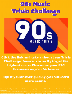 90's Music Trivia Game Ad