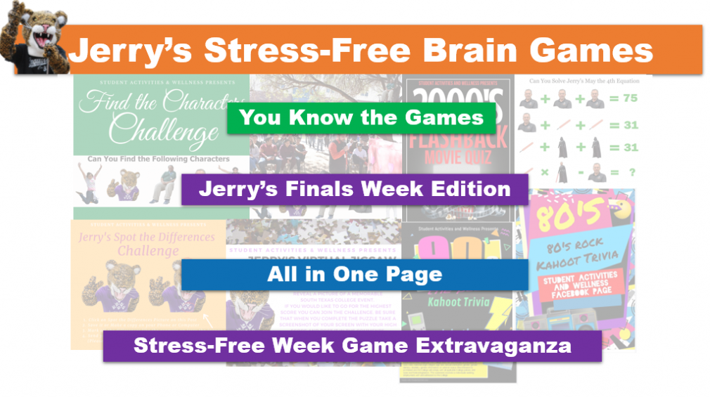 Banner image for the brain games